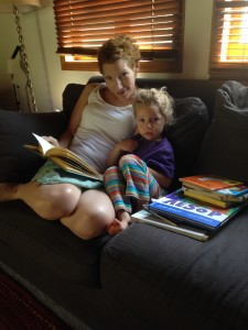Abby and Wia reading